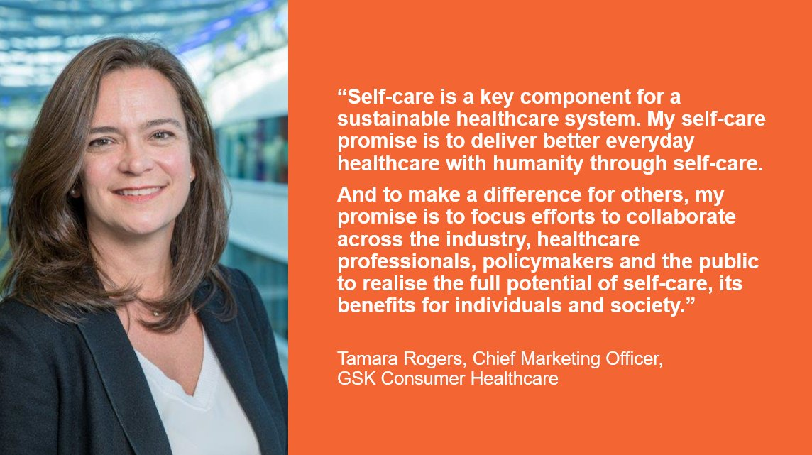 Ahead of #InternationalSelfCareDay, Tamara Rogers, Chief Marketing Officer for our Consumer Healthcare Business and Board Member of the Global Self-Care Federation, shares her #SelfCarePromise; supporting sustainable healthcare systems globally. https://t.co/O9jIOeF0gM