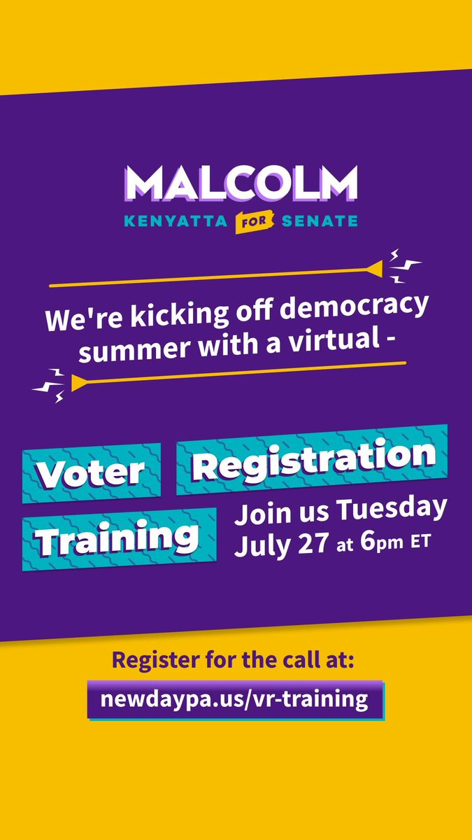 Our vote is our power. While we're making holding the PA GOP accountable for their assault on our democracy, we're making sure that everyone is registered and ready to cast their ballot.   Join us on July 27 for our first Voter Registration training: https://t.co/5zO0zanafq https://t.co/RYrYAHw2sj