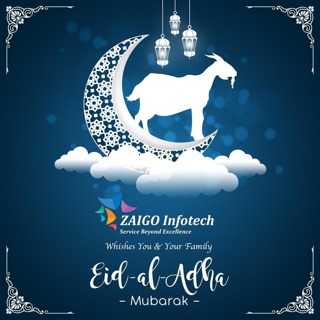 Here's wishing a blessed Eid that will inspire you with courage and strength to help you win every challenge of life. Eid al-Adha Mubarak!  #zaigoinfotech #eidaladha #eid #eidmubarak #iduladha #islam #eiduladha #eidcollection #eidoutfit #muslim #happyeid #love #islamic #eidalfitr https://t.co/ZtQNk8Ojsm