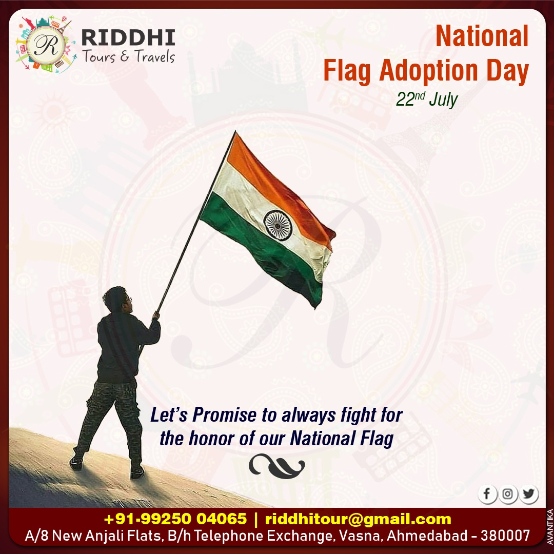 On this National Flag Adoption Day, Let's Promise to always fight for the honor of our National Flag. #nationalFlag #Flag #India #FlagDay #bravery #peace #love #care https://t.co/TjWRKTJ03Q