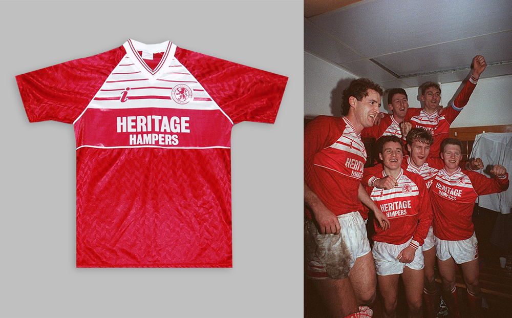 1988-90 Middlesbrough home kit