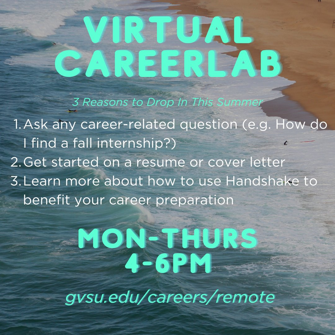 Photo 3 of 3 on twitter from user @gvsucareers.