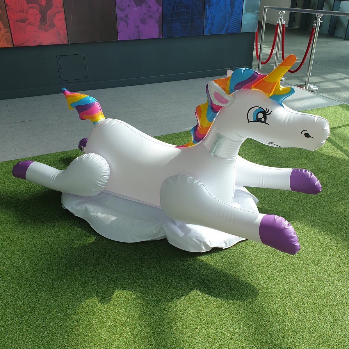 NEW SIGNING 🦄  Meet Unity the unicorn, one of the inflatables famously ridden by the @England squad during this year's @EURO2020.  Retired from active duty, Unity will be put out to pasture on our galleries. https://t.co/eQ4DXs1QpK https://t.co/xgpuKwQUN9