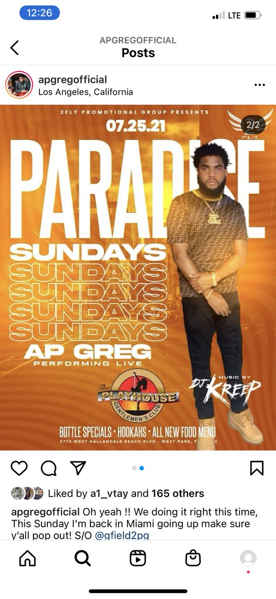 Sunday!!! We at playhouse #RollingLoudMiami #rollingloud pull up on me drinks on me! @APGREG4REAL #miami come have fun with some real gs https://t.co/WSHhULEmFG