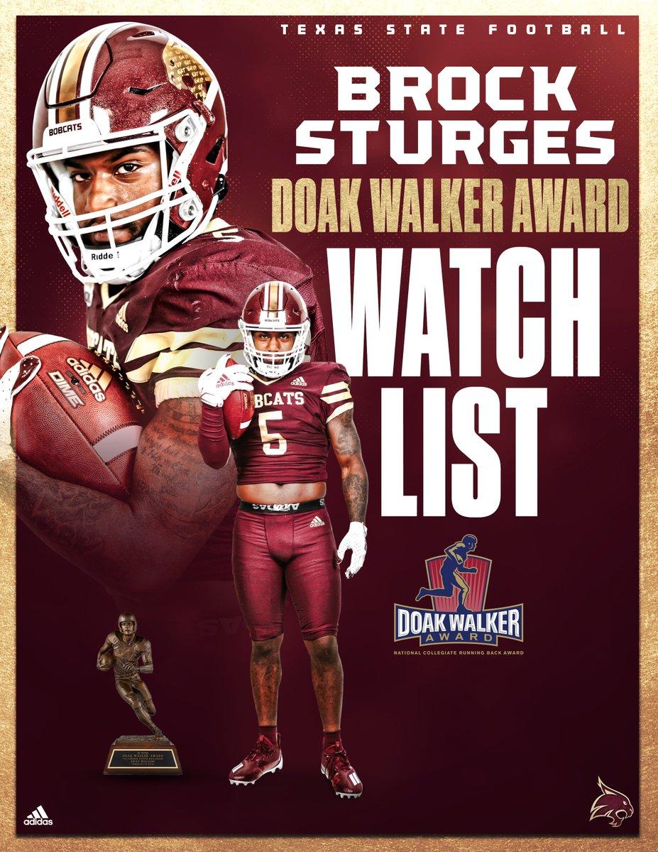 @TXSTATEFOOTBALL's photo on Doak Walker Award