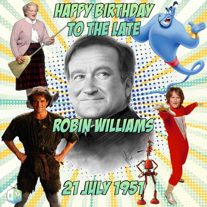 There will never be another like him, rest in peace Robin Williams and Happy Birthday.
