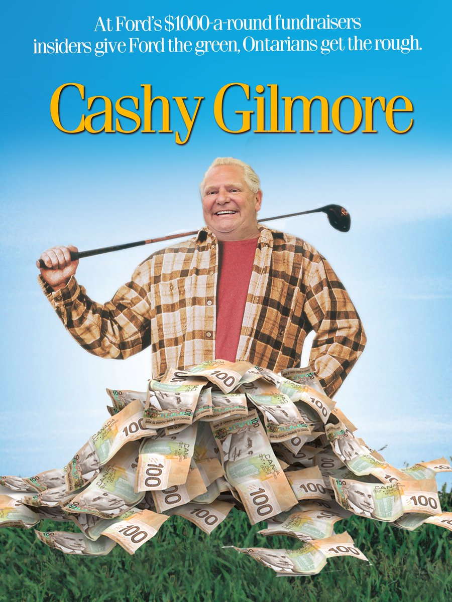 Doug Ford is hosting another $1000-a-round golf fundraiser today. #onpoli ⛳️ https://t.co/KigSZWbVbu