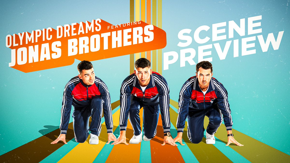 """We're a """"Sucker"""" for a sneak peak. Watch the first few minutes of #OlympicDreams now, and catch all the @jonasbrothers fun TONIGHT at 8/7c on NBC! 🤩 https://t.co/GlZeJJySCP"""
