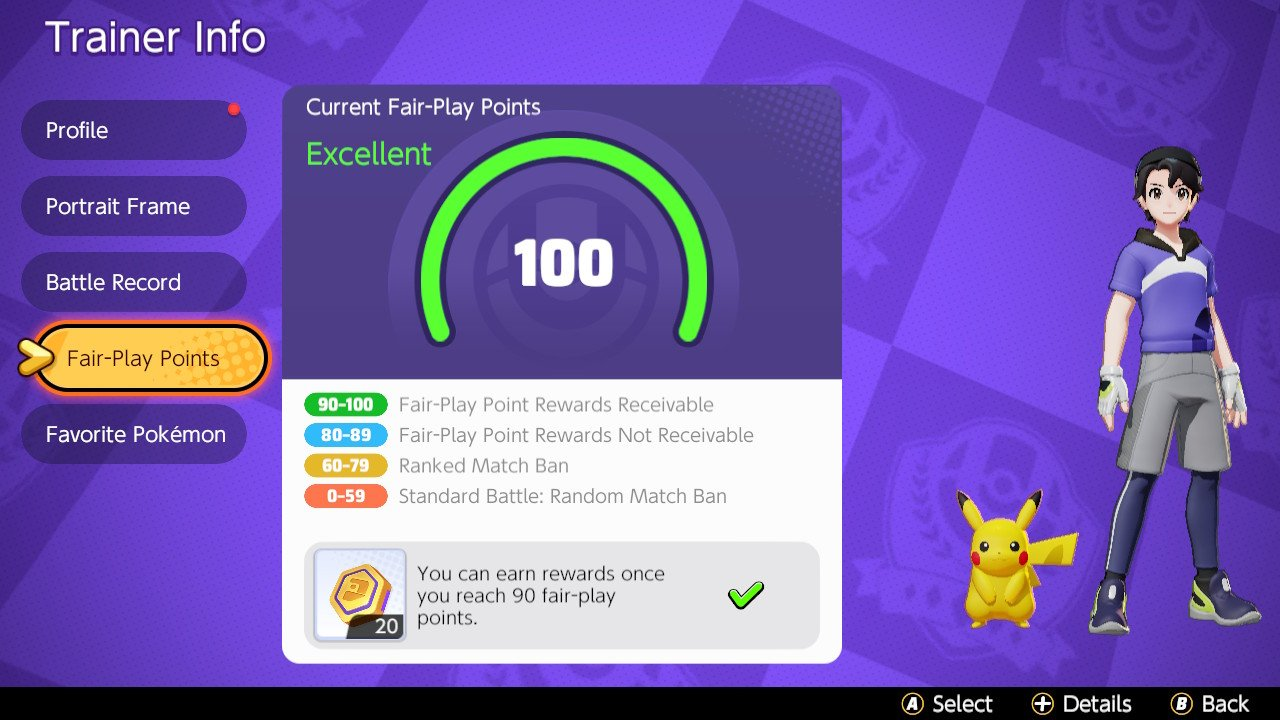 Pokémon UNITE Juego Limpio