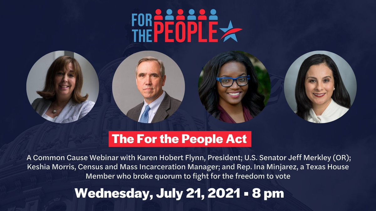 Please join us tonight at 8 pm ET as we continue our efforts to pass the #ForThePeopleAct and what the steps are moving forward. @SenJeffMerkley will be joining us to discuss how we're going to push it over the finish line.   https://t.co/6waTbzX4yH https://t.co/4qAcI4Hx3z