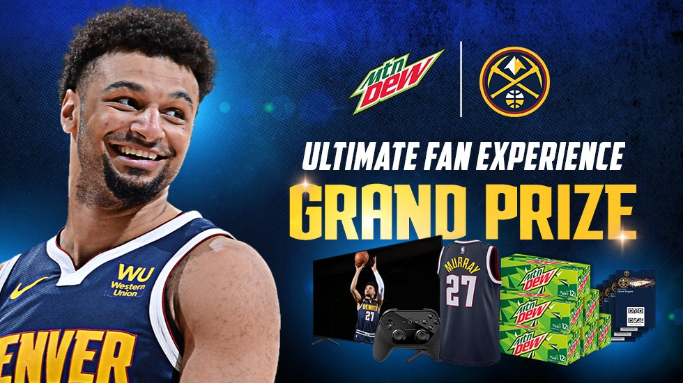Nuggets fans there's still time to enter @MountainDew's  ULTIMATE Fan Experience sweepstakes! Comment #dewultimatefan below to enter. You could win a chance to go head-to-head with @BeMore27 in NBA2K and so much MORE!   Terms apply: https://t.co/VFZTUSg7lF https://t.co/hcRlFaGaPo