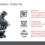 Our variable geometry turbo for gasoline are particularly suited for Miller-cycle engines that have higher boost requirements and deliver 5-10% better fuel economy with low emissions.  #GarrettTurbo #GasTurbo
