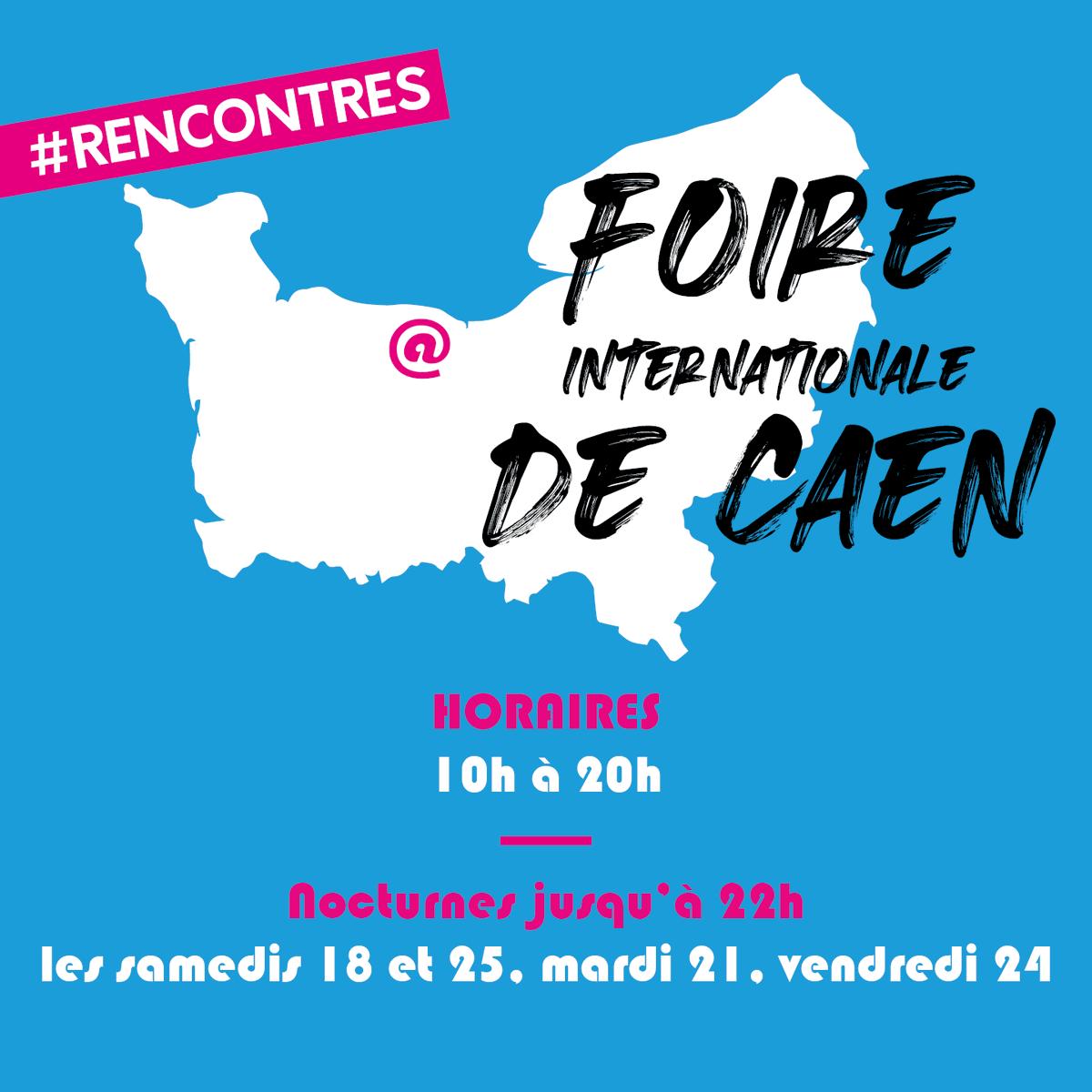 [ INFOS PRATIQUES FIC21 ] 🎉✨  Horaires de la #FoiredeCaen :  Du vendredi 17 au dimanche 26 septembre de 10h à 20h 4 nocturnes jusqu'à 22h les samedis 18 et 25, mardi 21 et vendredi 24 septembre  On a hâte de vous retrouver 😊  #FoiredeCaen #Caen #rencontres #events #Foire https://t.co/LhnHqJov97