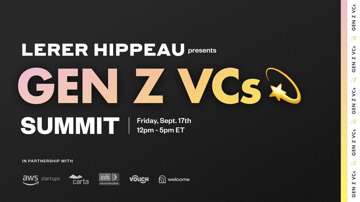 Lerer Hippeau Gen Z VCs Summit