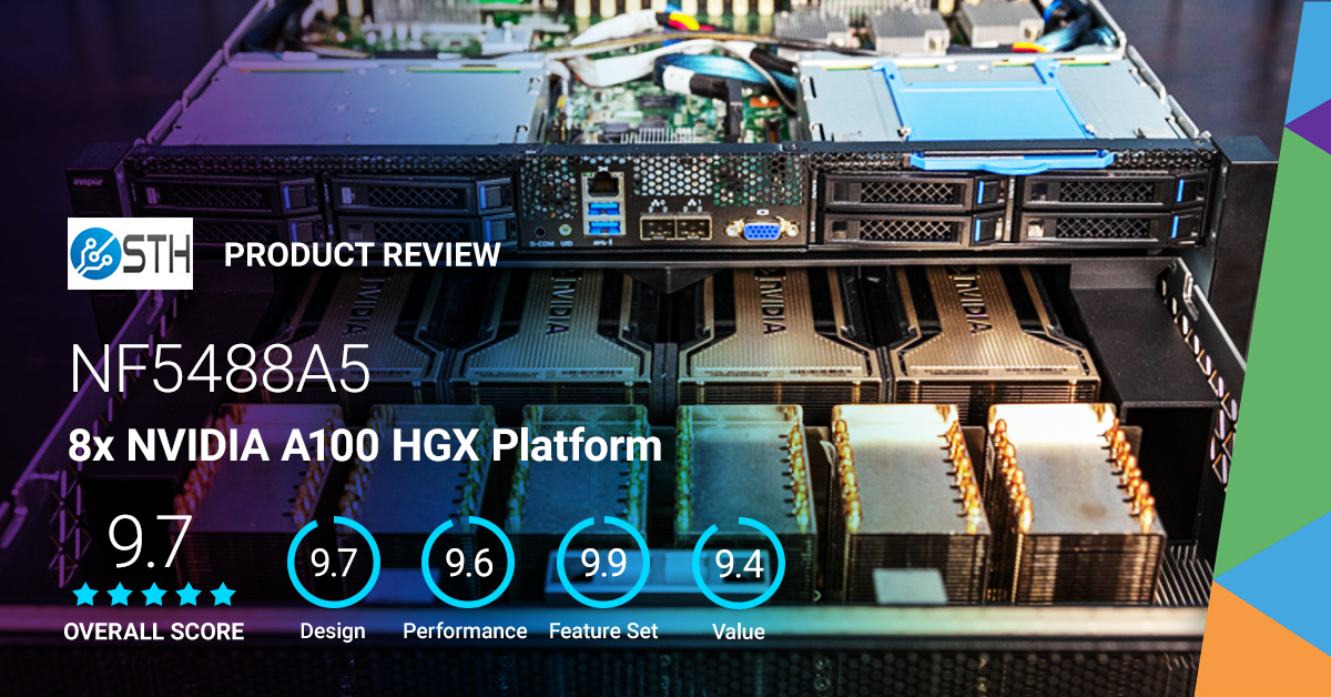 """Inspur's NF5488A5 is """"one of the highest-end dual-socket #servers you can buy today for #AI training"""", according to @ServeTheHome. See what else they have to say about this 8x #A100 #GPU platform powered by AMD #EPYC. https://t.co/m69DmLiQsQ https://t.co/IBC6i5nQ1r"""