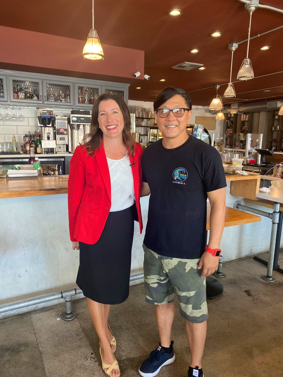 This morning I caught up with the owner of Toast Kitchen + Bakery to discuss the challenges facing #SmallBusinesses as we emerge from the pandemic.  As a recipient of the small business relief grant, Mr. Lee shared how critical those funds were to the survival of his restaurant. https://t.co/td8C5gX2rF