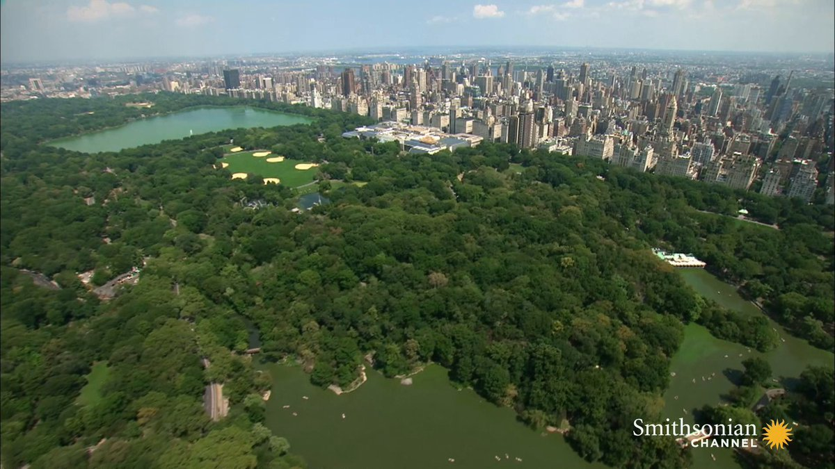 🗓#OTD in 1853, the New York State Legislature passed a law to set aside 100's of acres of land to build Central Park. 🏞  🎥Aerial America: Man-Made Marvels https://t.co/RSCgpT7HNg