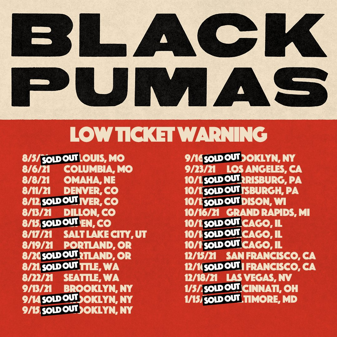 LOW TICKET WARNING: Tickets for these shows are moving fast - have you gotten yours yet? 💥  Tickets and full tour date listings here: https://t.co/XNzIfuvo0Z https://t.co/D0ywgJJor5