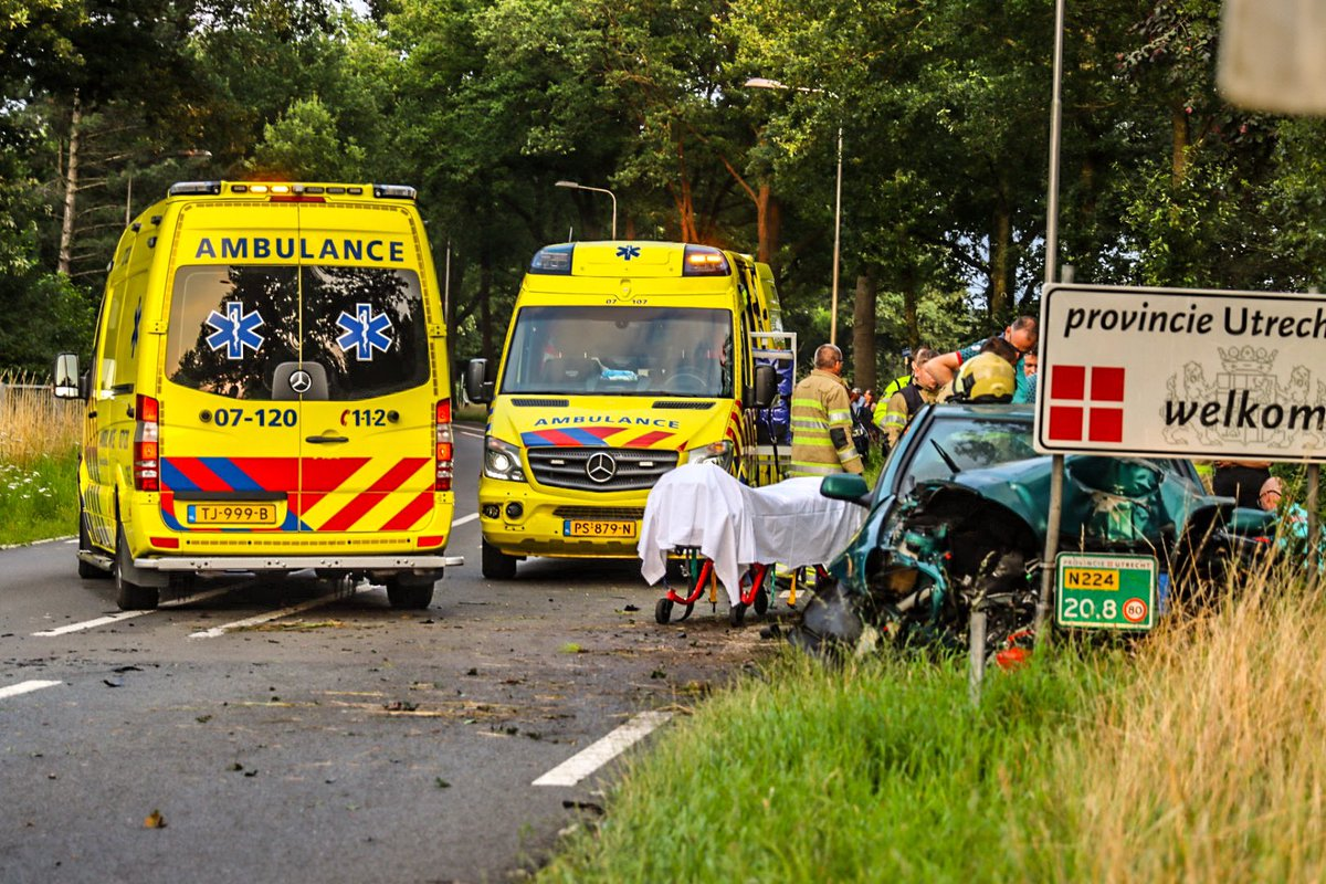 Melding politie Renswoude inzake traumahelikopter