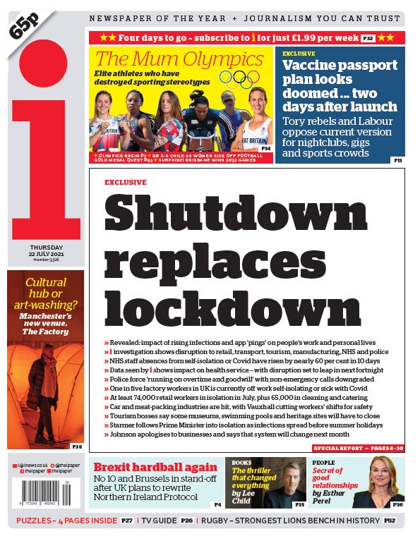 "test Twitter Media - Thursday's i: ""Shutdown replaces lockdown"" #BBCPapers #TomorrowsPapersToday https://t.co/7FuHsAa3Vz https://t.co/VdAOYKAv1q"