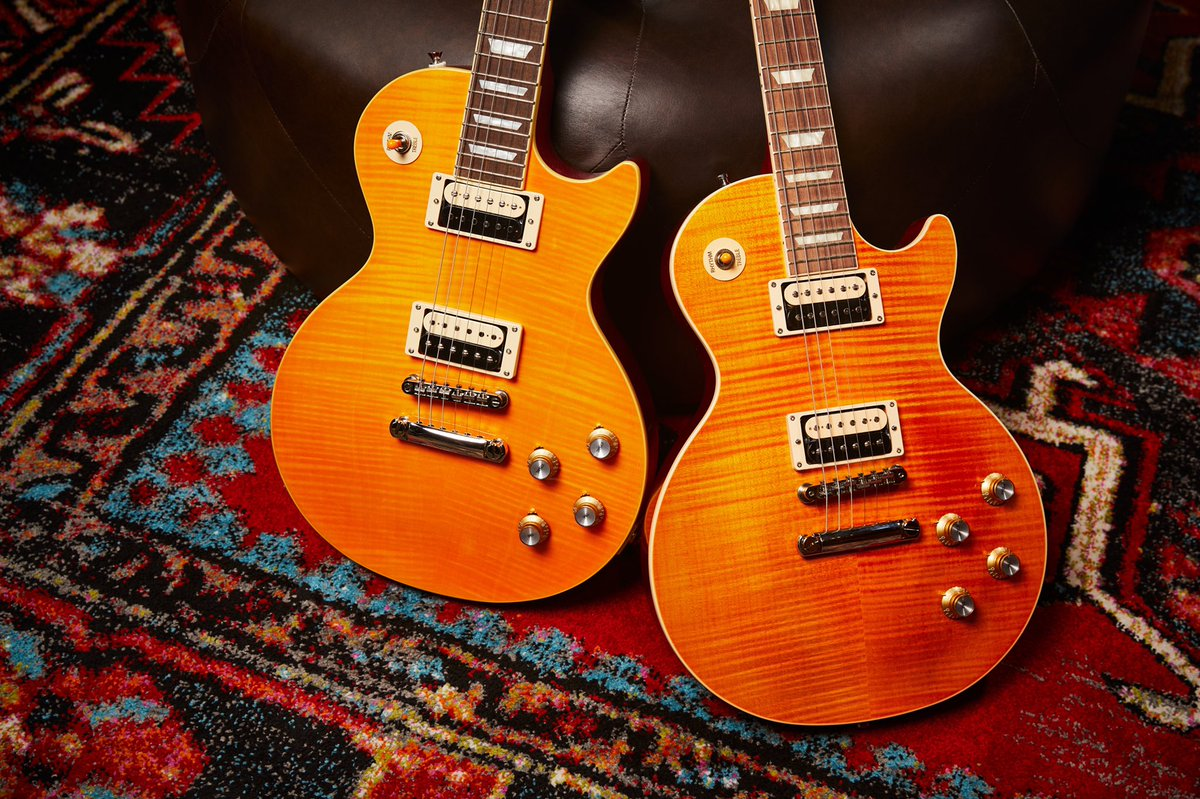 #Guitar 🎸 Awesome of the Day ⭐ ➡️ #Epiphone (left) and Gibson (right) Appetite Burst via @gibsonguitar #SamaGuitars #SamaMusic 🎶 ➡️ View More #SamaCollection 👉 https://t.co/Kugls40kPu