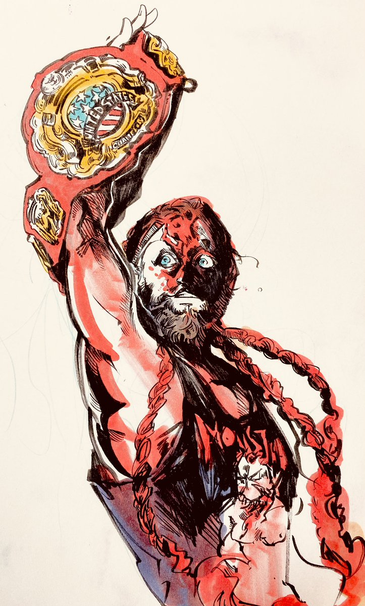 RT @bobroba: US Heavyweight champion!!  #MurderhawkMonster #AEWDynamite  #njpw https://t.co/bj0NFZEVse