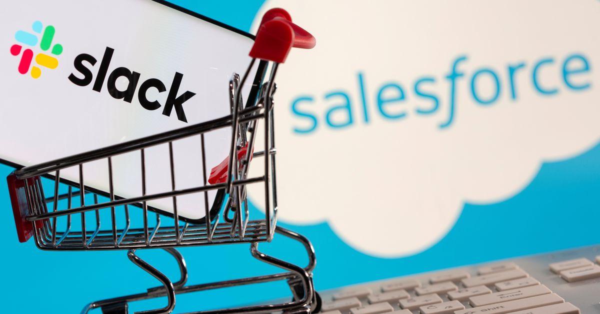 After $27.7 bln deal, Salesforce aims to connect companies via Slack https://t.co/ODIZZPxmUG https://t.co/MTx78TxE6E
