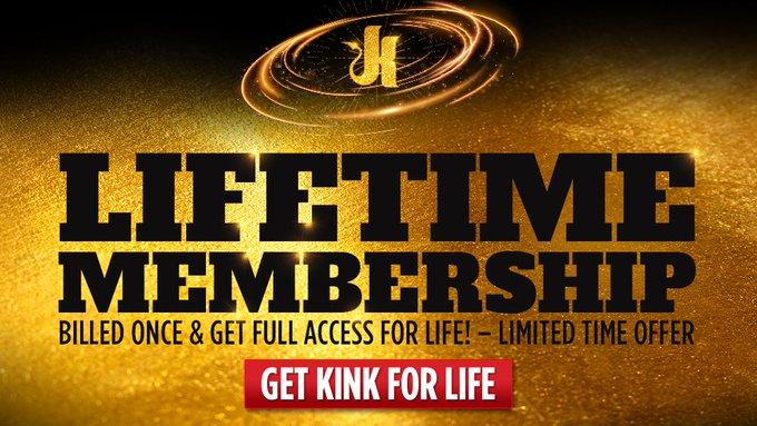KINK's Lifetime Membership is BACK! 🔙 Billed Once = KINK for LIFE! 💫 Join NOW: https://t.co/JJj8F7ggQi