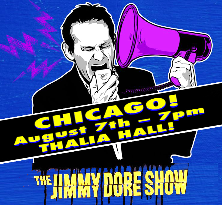 🌟CHICAGO -- August 7th! The Jimmy Dore Show Live! Thalia Hall -- 7:00pm **Special Guest Added!** TICKETS:  https://t.co/Bg7rToV91j https://t.co/dT59fYePBr