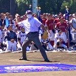 Image for the Tweet beginning: 今日から開幕! ポニーベースボールの全国大会です。 一般社団法人 日本ポニーベースボール協会 会長に松原仁が就任し、ご挨拶と始球式を執り行いました。  子どもたちのスポーツを応援しております。  #中学硬式野球ポニーリーグ  #海の日 #開会式