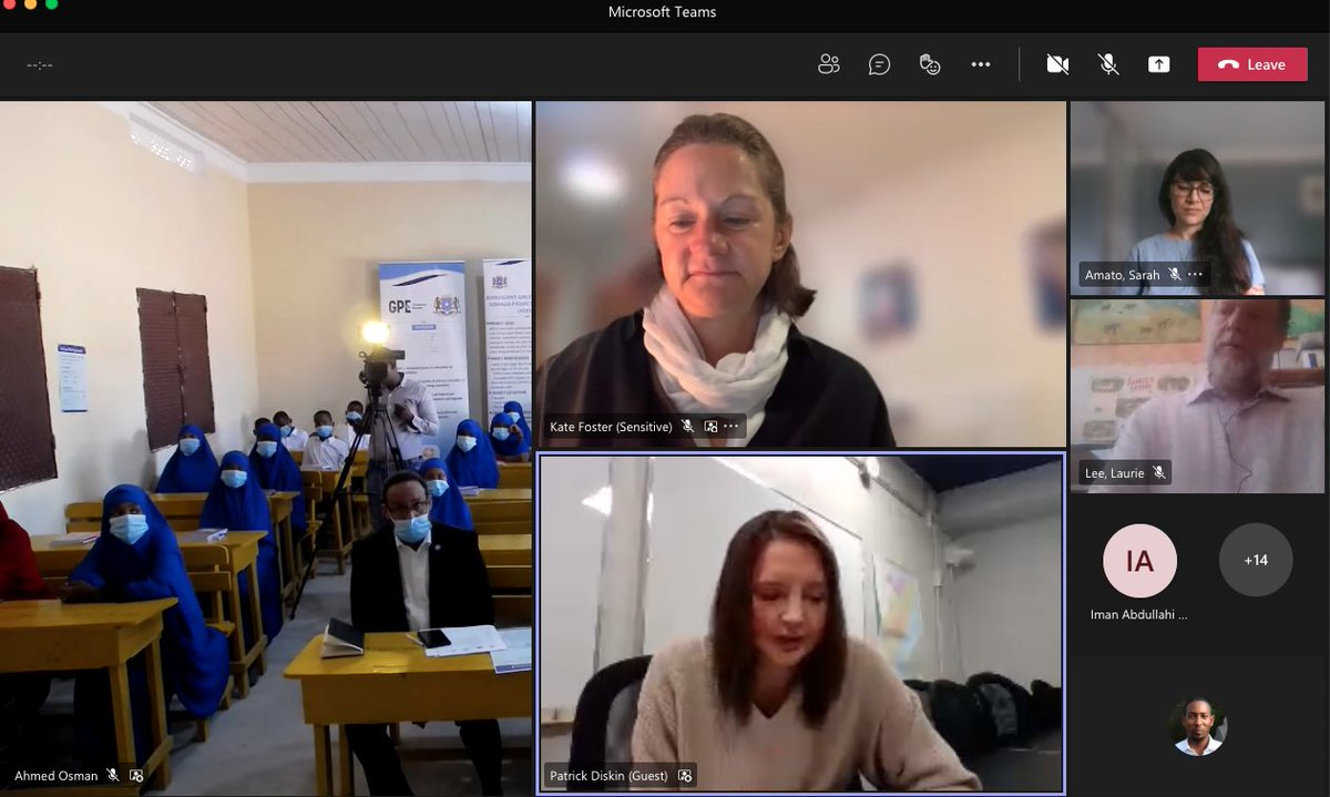 """""""By investing in girls' education, we are investing in Somalia's future"""", - US chargé d'affaire for Somalia Colleen Crenwelge says as she joined @KFosterFCDO & @moechesomalia Abdullahi A Haji on a virtual school visit to the #December20 Pri school ahead of #GES2021 @UKinSomalia https://t.co/uZvvXW6EaB"""
