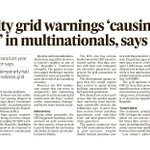 Image for the Tweet beginning: In today's @IrishTimes - Electricity
