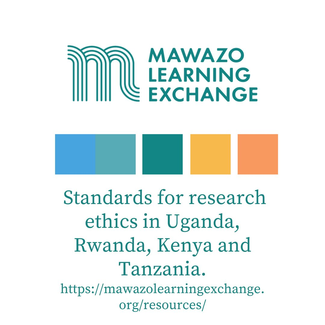If you are a #researcher then you know meeting the highest ethical standards of research is vital. Visit the @MawazoExchange platform to interact with the standards for research ethics in #Uganda, #Rwanda, #Kenya and #Tanzania by clicking the link below: https://t.co/PNC9v7IRYE https://t.co/kesW1GZ1Vt