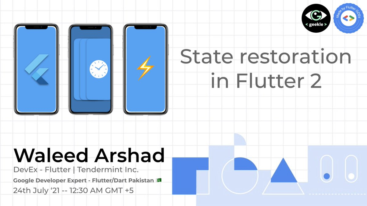 Will be live at Flutter Global Summit by @GeekleOfficial 👨💻