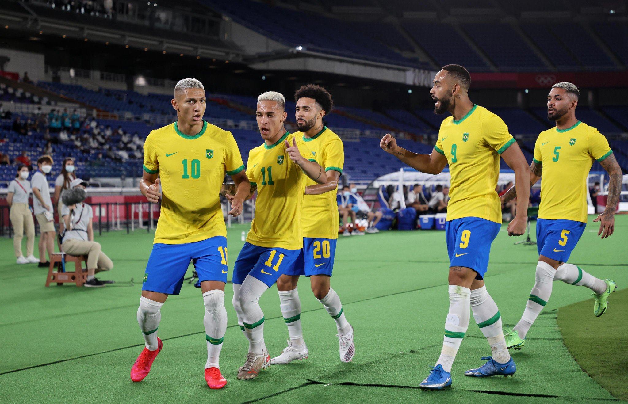 """Invictos on Twitter: """"Brasil venció 4-2 a Alemania en Tokio 2020. HAT-TRICK  de Richarlison y golazo de Paulinho. Pudo ser una goleada legendaria, pero  el scratch falló mucho, se relajó, y los"""