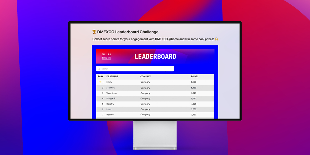 Let's get networking!  Discover the DMEXCO @ home and gain score points to win the Engagement Expert Challenge & Best Networkers Challenge.  We will be awarding the top networkers of #DMESCOatHome.  Learn more about the #DMEXCO21: https://t.co/Vca0Sp1yl9 https://t.co/TMEWfSr63j