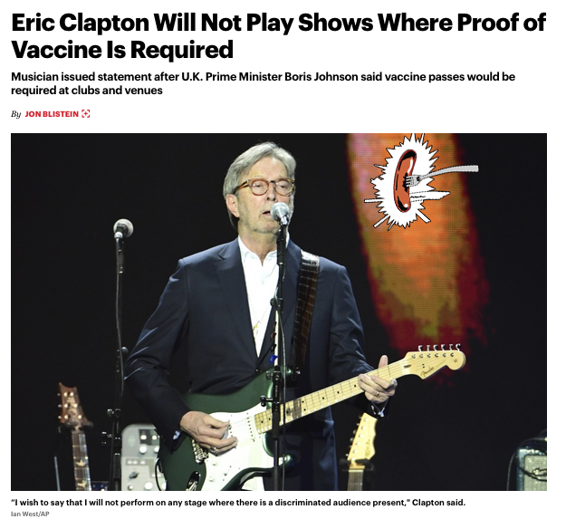 Eric Clapton Says He Wont Perform Where Vaccine Is Required, Gets Feedback Photo