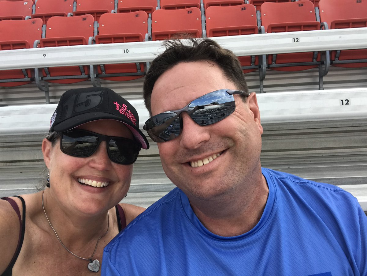 Today's picture of @djbrianpate and me is one of us sharing another passion of ours.  NASCAR.  This was our first live race together.  The first one that allowed fans during COVID.  The all star race at Bristol. https://t.co/bl8tP5vL4F