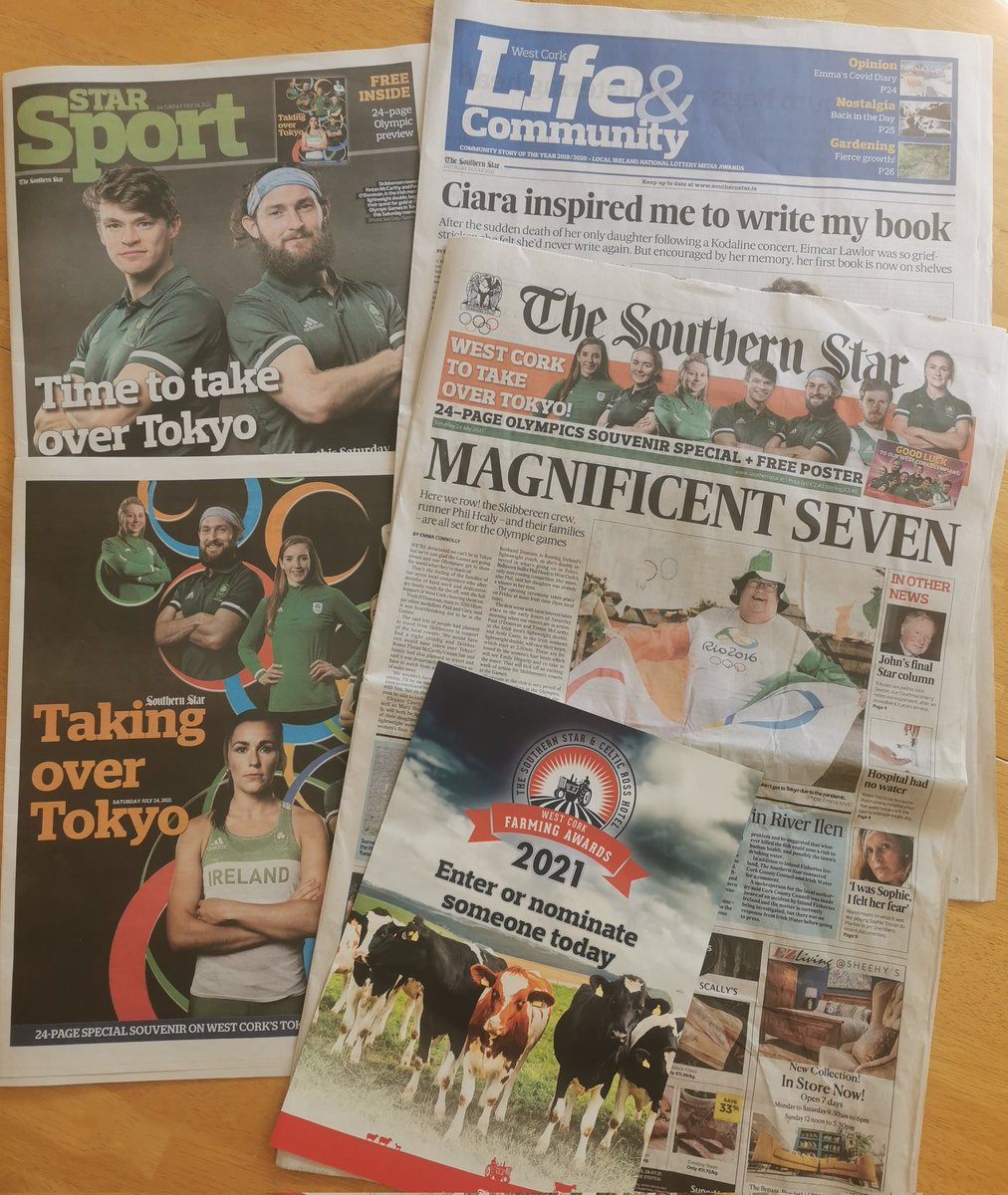 All of this for just 2.40 euro?  Get down to your nearest newsagents or local shop for this week's absolute must-buy @SouthernStarIRL #Olympics2021 special. Also available to purchase ANYWHERE in the world including #Tokyo using thr following link:  https://t.co/HFBt5EoWbH https://t.co/tiLim313c4