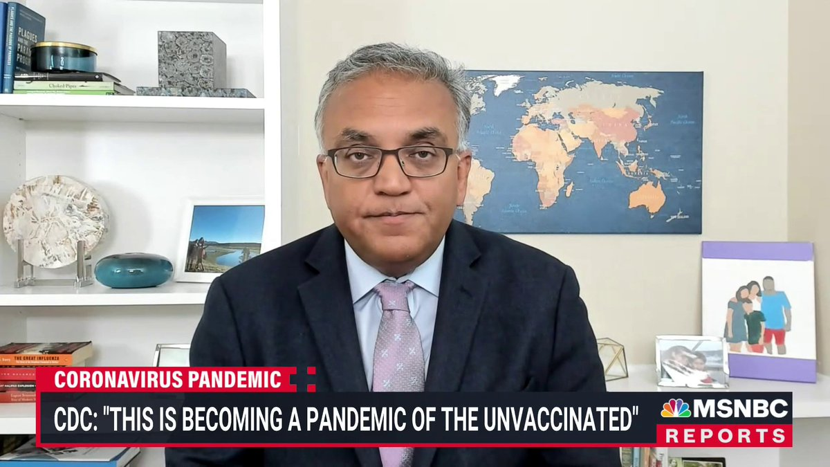 """. @ashishkjha: """"I think people are underestimating how bad this variant is, it's really bad if you're unvaccinated."""" https://t.co/K4npKbXN7d"""