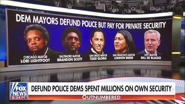 .@DemMayors, why did you waste millions of taxpayer dollars on your own private security but defund the police who protect your constituents? https://t.co/2kQpYthwez