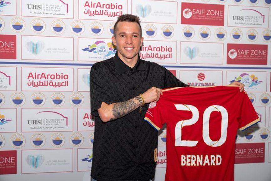 🚨 رسميًا ✍🏻   نادي الشارقة يعلن التوقيع مع اللاعب بيرنارد من إيفرتون.