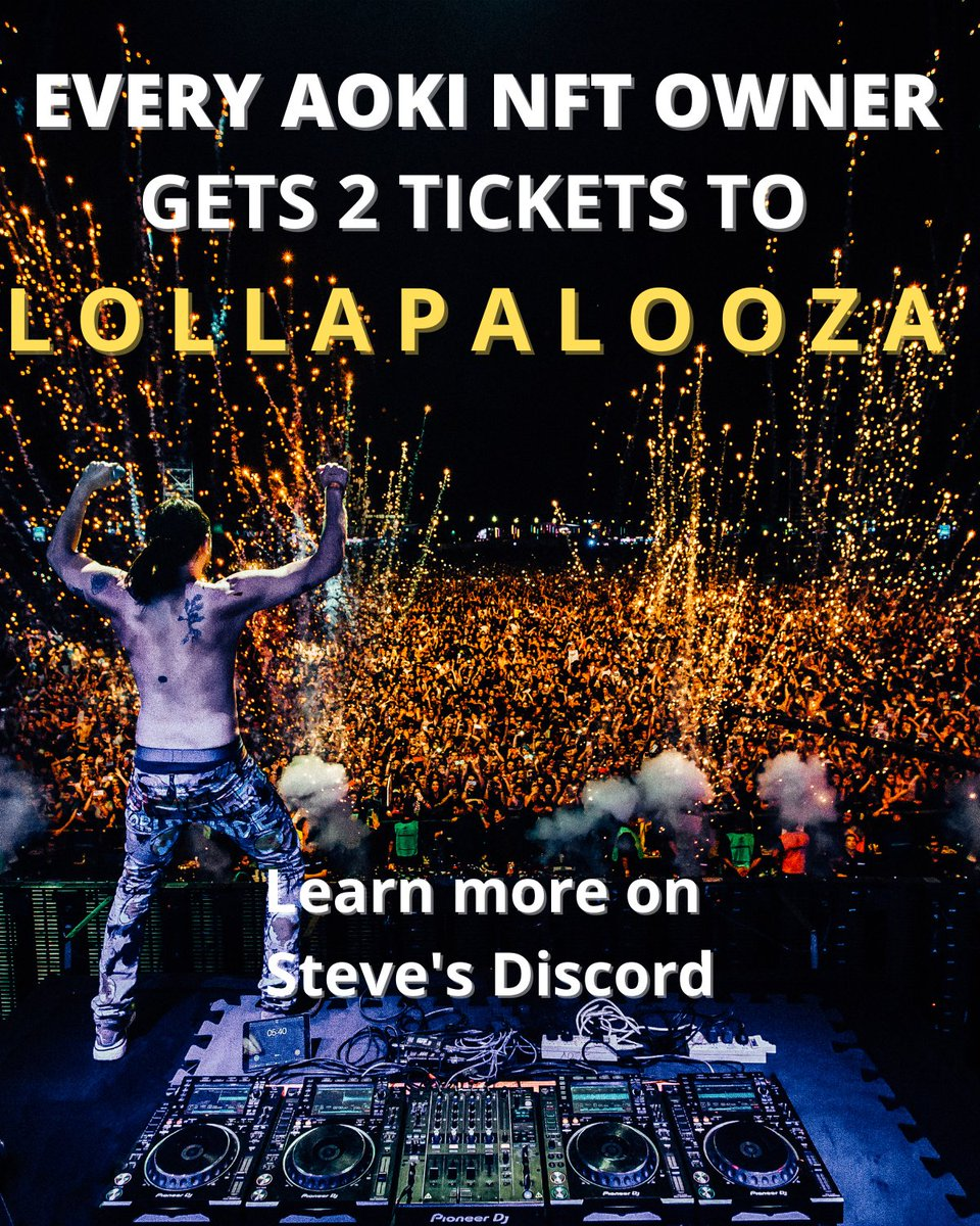 Don't forget to reserve ur spot for @lollapalooza !!! Let's goooooo
