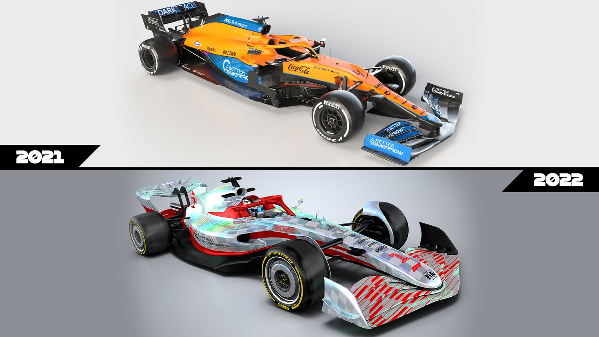 2021 vs 2022... contrast and compare 👀  #F12022 https://t.co/FwPzCUzMD4