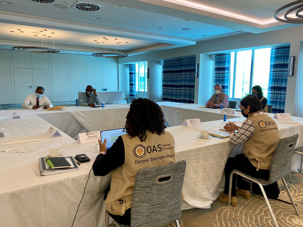 The Electoral Observation Mission of the #OASinStLucia met with Claudius Francis and Leslie Mondesir of the Saint Lucia Labour Party @labourstlucia https://t.co/5KpIlwUPGL