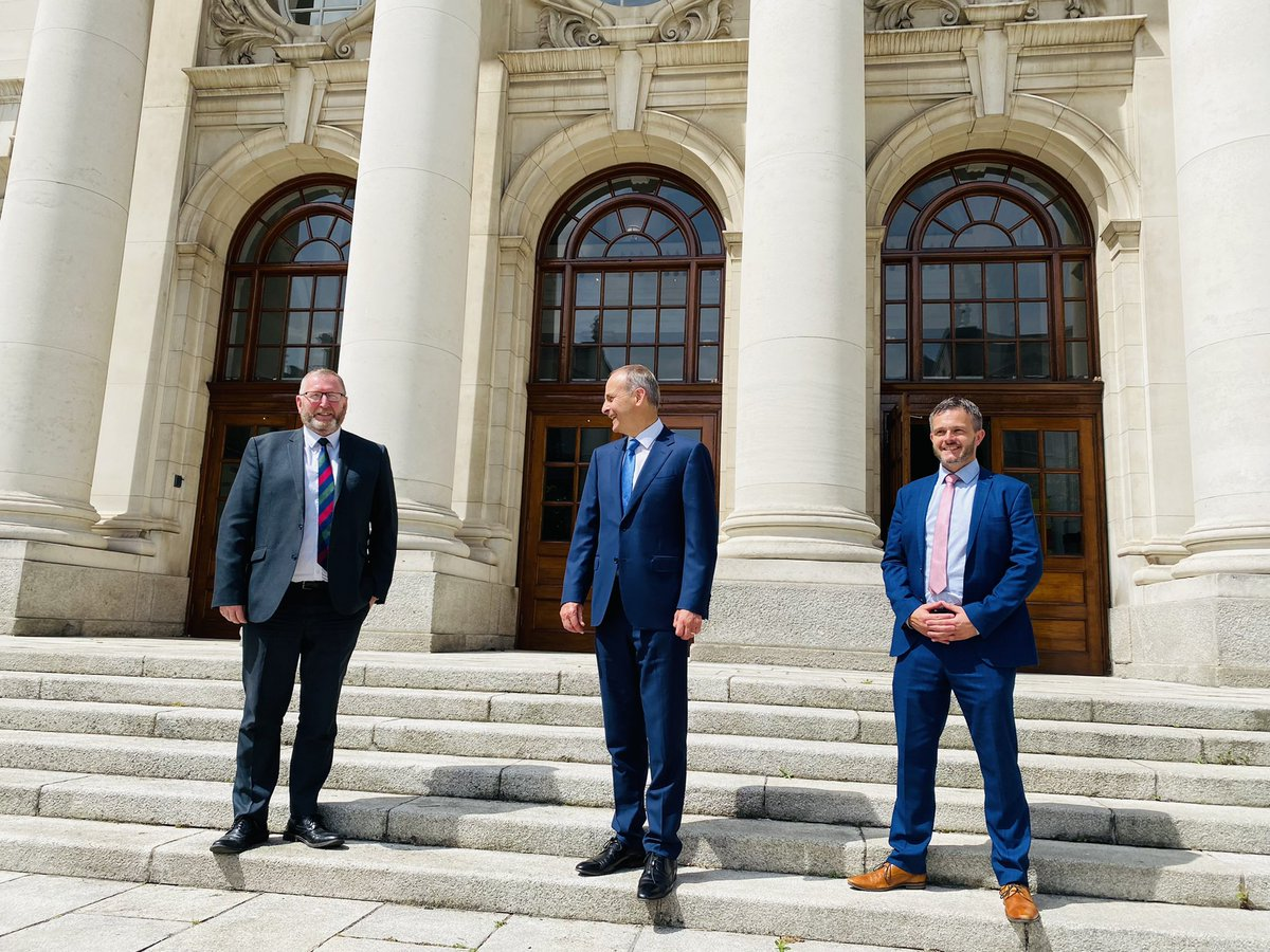 Useful and engaging meeting today with @uuponline Leader @BeattieDoug and Deputy Leader @RobbieButlerMLA We discussed a range of issues including legacy, Brexit and the NI Protocol. https://t.co/7u5KBnQbDO