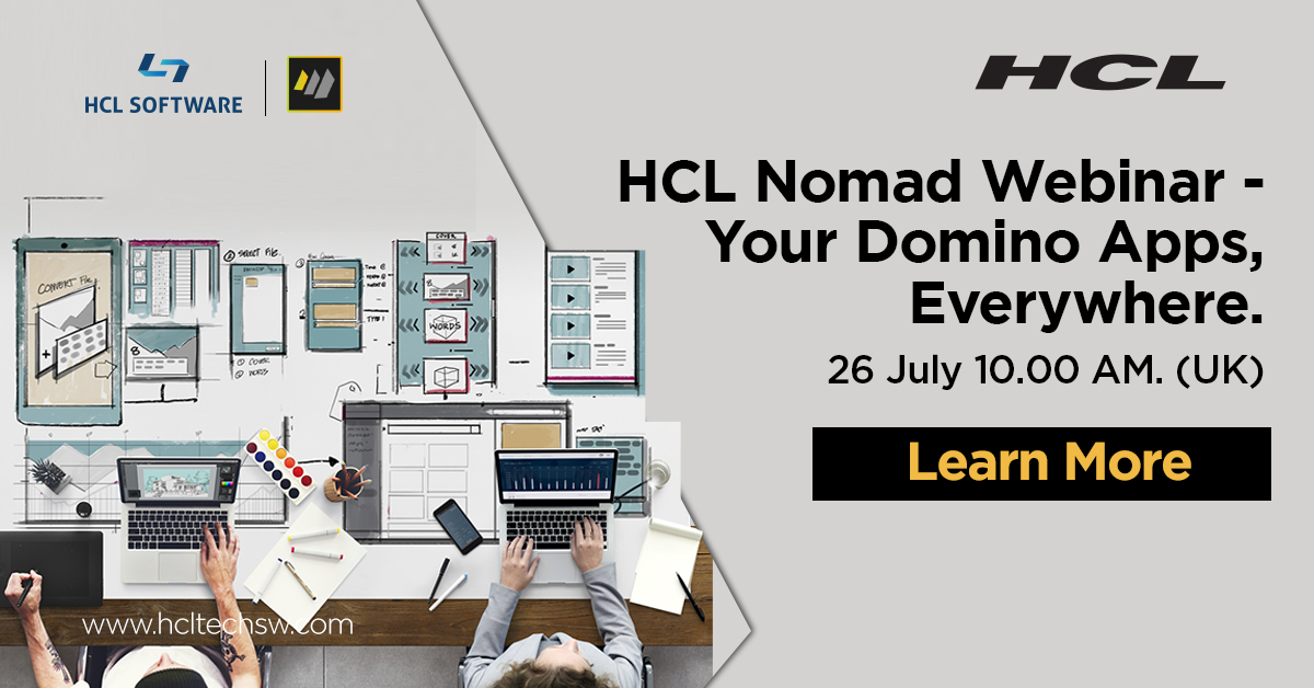 Con #HCLNomad, puoi utilizzare le tue app #Domino sul desktop, sui dispositivi mobili e ora su un browser. https://t.co/YPKaW3D4rj   #dominoforever #security #groupware #hclswlobp #nocode #lowcode #react #sametime #connections