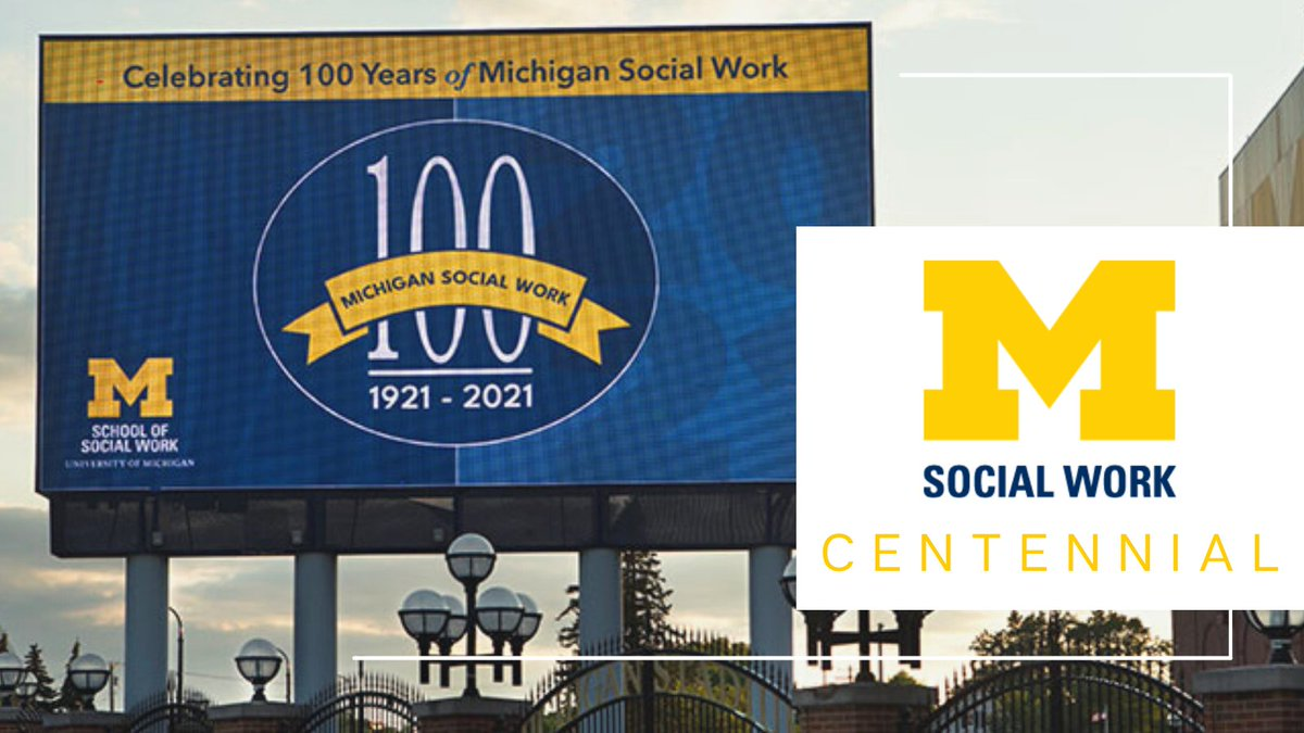 Next time you drive by the Big House on Stadium Blvd, be on the lookout for a sign on the digital marquee commemorating 100 years of @UMSocialWork in celebration of their centennial! https://t.co/2Xqlpk2Id3 https://t.co/DWEjTZpI0B