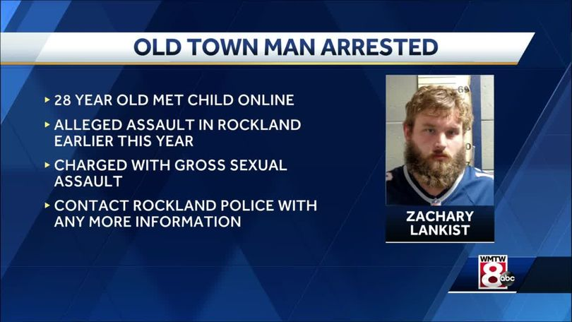 Zachary Lankist, 28, charged with sexually assaulting a child he met online.  WMTW Portland: Maine man accused of sexually assaulting child he met online. https://t.co/qImq8wTWEf #FirstThem 👉🏿 #Metoo #WeAsOurselves 🤐 #SilenceIsViolence 🤬 #AnOpenSecret 🤫 #TimesUp ⏰#H1news 🗞️ https://t.co/HeG2gS0nkn