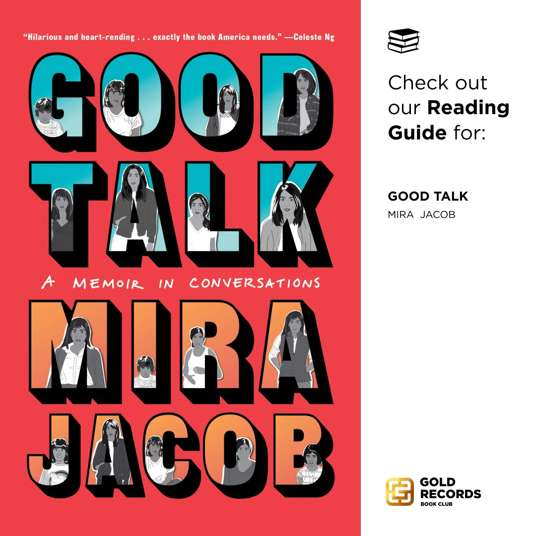 Ready for a good talk about #GoodTalk by @mirajacob?  In the #GoldHouseBookClub reading guide we'll discuss: 👪 Parenting 👤 Identity 💬 Conversations 📖 And more!  Get the full guide: https://t.co/NoUrTn0NrF  #BookClub #BookCommunity #AsianBookClub https://t.co/t8JKbOyi22